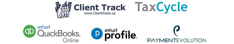 Client Track, QuickBooks Online, ProFile, Payment Evolution